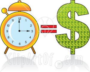16198-golden-alarm-clock-by-a-dollar-sign-time-equals-money-clipart-illustration-image