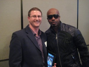Social Networking San Diego CEO Justin French with MC Hammer